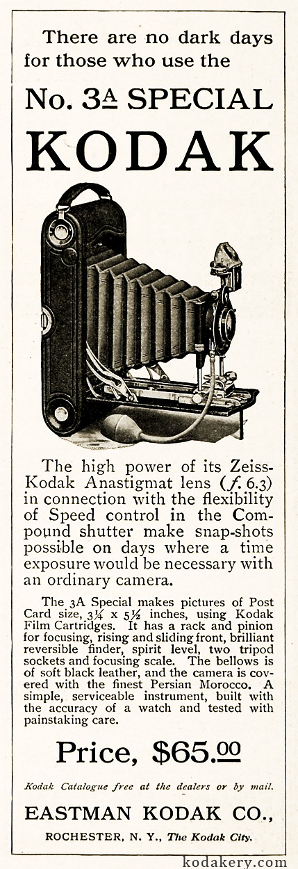 3A Special camera print ad from 1911